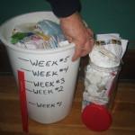 5 weeks in can 6th week in clear jar