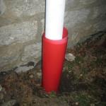 Days 365+69f ADAD drain spout toboggan