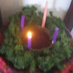 Days 365+111 Advent wreath.