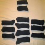 Top 2 socks = $15 each Lower 10 socks = 80 cents each